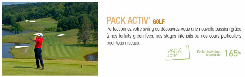 Pack Activ Golf Clubs Jet Tours Eldorador