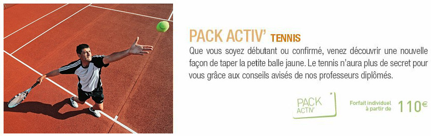 Pack Activ Tennis Clubs Jet Tours Eldorador