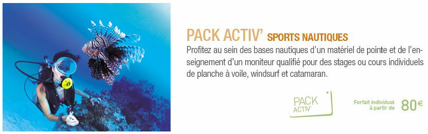 Pack Activ Sports Nautiques Clubs Jet Tours Eldorador